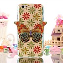 Blue Butterfly Pattern  TPU Soft Cover for iPhone 6