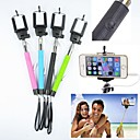 3.5mm Wired Remote Selfie Monopod Extendable Handheld Holder for iPhone and Others (Assorted Colors)
