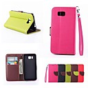 Leaf Buckle PU Leather Full Body Case with Card Slot And Stand for Samsung Galaxy Alpha G850F (Assorted Colors)