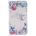 Roses PU Leather Full Body Case with Stand and Card Slot for LG G3