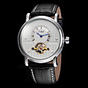 FORSINING Mens Tourbillon Elegant Dial Leather Band Automatic Self Wind Wrist Watch (Assorted Colors)