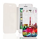 Colorful Paris Tower PU Leather Full Body Case for iPhone 5/5S