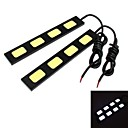 GC 2Pcs 18cm 18W 5x COB 1800LM 8000K Cool White Light LED for Car Daytime Running Light (DC 12V)