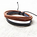 Casual Handmade Multilayers Mens Leather Bracelets (1pc)