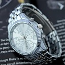 Men's Fashion Circular Alloy Band Quartz Watch(Assorted Colors)