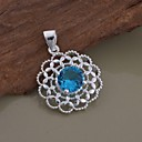 New Fashion Elegant Pendant Necklaces Silver Silver-Plated Flower Necklaces AN1382