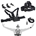 Gopro Accessories 4 in 1 Kit Chest StrapJ-Hook MountHead StrapWrist Strap For GoPro 1 2 3 3 4 SJ4000
