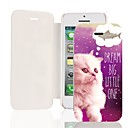 The Cat Want to Eat Fish PU Leather Full Body Case for iPhone 5/5S