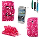 Love Bow Pattern PU Leather with Touch Pen and Protective Film 2 Pcs for Samsung Galaxy Trend Duos S7562