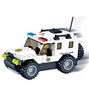 Police Car 3D DIY Plastic Puzzle Assembling Building Blocks Game Toy for Kids(114 PCS)