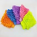 (5 pièces) en fibre de chenille éclairé d'un seul côté gant de lavage de voiture