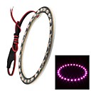 Merdia 1W 100LM 27x3528SMD LED Pink Light Car and Motorcycle Angel Eyes (DC  12V/1Piece,100mm Outside Diameter)