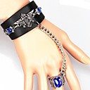 womens-gothic-punk-slave-bracelet-with-ring