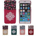 Special Design TPU Patch Big Flower Pattern PC Hard Case With Card Slot for iPhone 6 Plus