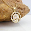 18K Gold Plated Allah Muslim Drops Of Glaze Pendant Necklace
