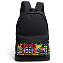 Coexistence Travelling Bags Western Style Patchwork Backpack Smiling Face Pattern Laptop Cases
