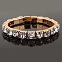 Latest Luxurious Eight Claws Big Square Rhinestone Elastic Golden Bracelet