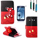 Bow Pattern PU Leather with Touch Pen and Protective Film 2 Pcs for Samsung Galaxy Core 2 G355H