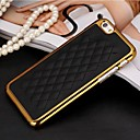 Sheep Grain PU Leather Electroplating Plastic Hard Back Cover for iPhone 6  (Assorted Colors)