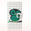 Sleeping Owl Pattern PU Leather Case with Stand and Card Slot for Huawei Ascend Y550