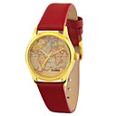 Personalized JUST2YOU Citizen Movement Womens The World Map  in Gold Case
