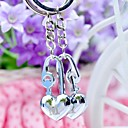 Personalized Engraving Heart Metal Couple Keychain (Set of  6 Pair)
