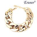 Eruner Womens Wide Chunky Golden Chain Bracelet