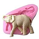 3d animal del silicón molde elefante de la torta del molde de silicona pasta de azúcar que adorna el molde para pastel de chocolate azúcar saop