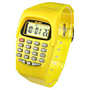Niños Reloj de Moda Reloj digital Japonés Cuarzo Digital Caucho Amarillo 30 m Calendario Reloj Casual Digital damas Caramelo - Amarillo Dos año Vida de la Batería