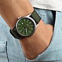 Hombre Cuarzo Reloj de Pulsera Calendario Tejido Banda Encanto Negro / Marrón / Verde