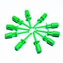 bricolaje punta electrónica sonda de prueba - verde (10-piece paquete)