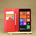 Funda Para Nokia Lumia 1320 Nokia Funda Nokia Soporte de Coche Cartera con Soporte Funda de Cuerpo Entero Color sólido Dura Cuero de PU