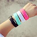 Men's Digital Wrist Watch LED Silicone Band Charm Black White Orange Green