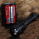 2200LM CREE XM-L T6 LED Flashlight Focus Torch light  2x 18650 Batteries  Charger