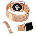 banda de bucle milanés para reloj de manzana 44 mm 40 mm 42 mm 38 mm enlace pulsera magnética hebilla ajustable con adaptador para iwatch serie 4321