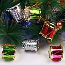 12pcs los 2.5cm colorearon el tambor lateral árboles de navidad y la decoración del partido