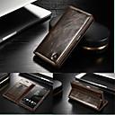 Image of raccoglitore del cuoio genuino slot per schede di caso della copertura di vibrazione con il basamento per Sony Z5 Xperia (colori