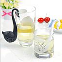 plastica di figura del cigno colino da tè alle erbe spezia infusore filtro cucchiaino colino