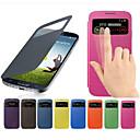 Funda Para Samsung Galaxy Funda Samsung Galaxy con Ventana / Flip Funda de Cuerpo Entero Un Color Cuero de PU para S4 Mini