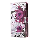 Image of stare fiori viola modello portafogli in pelle capovolgere caso con slot per schede per Microsoft lumia 650