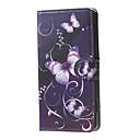 Image of farfalle viola e viti caso del basamento del cuoio di vibrazione del modello di portafoglio con slot per schede per Microsoft lumia 650