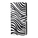 Image of zebrato distinguono modello portafogli in pelle capovolgere caso con slot per schede per Microsoft lumia 650