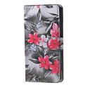 Image of fiori rossi in fiore modello portafogli in pelle del basamento di vibrazione caso con slot per schede per Microsoft lumia 650