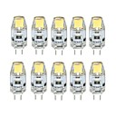 10pcs 1 W 100 lm G4 Luces LED de Doble Pin T 1 Cuentas LED COB Regulable Blanco Cálido Blanco Fresco 12 V / 10 piezas / Cañas