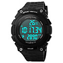 Da uomo Orologio sportivo / Orologio da polso Digitale Calendario / Resistente all'acqua / allarme / Luminoso / Pedometro / Cronometro
