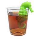 ippocampo forma di silicone strumenti di filtro del tè infusore tè colino caffè sciolto foglia filtro a maniche filtro tazza