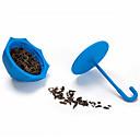 colino ombrello in silicone a forma di tè infusore tè sfuso filtro foglia (colore casuale)