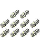 10pcs BA9S Coche Bombillas 1 W SMD 5050 120 lm 5 LED Luz de Intermitente For Universal