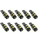 10pcs T10 Coche Bombillas 2 W SMD 5050 200 lm 9 LED Luz de Intermitente For Universal