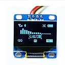 "0.96 ""pulgadas I2C azul CII serie 128x64 OLED LCD llevó módulo de visualización para Arduino 51 msp420 stim32 scr"